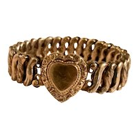 Made In USA, Carmen, The DFB CO. Gold Filled Sweetheart Expansion Bracelet