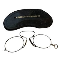 Lorgnette Antique Spectacles with Original Leather Case