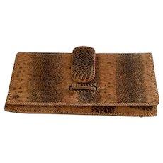 Vintage 1950's  Alligator clutch Handbag