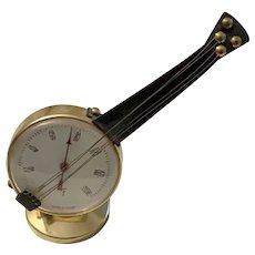 Vintage Desk Top Barometer Musical Banjo Shape, Made in France