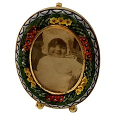 Sweet Vintage Micro Mosaic Tiles Picture Frame Italy