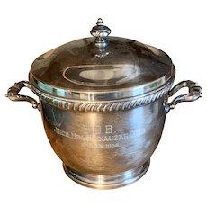 Vintage 1956 Michigan Miniature Schnauzer Club B.O.B. Trophy Ice Bucket Silver Plate