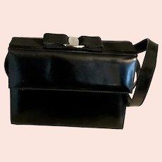 Vintage Ferragamo Handbag Bow Top Crossbody