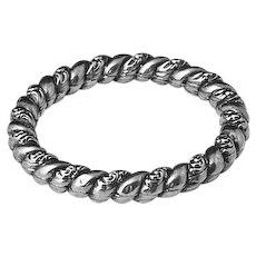 Victorian Sterling Repousse Bracelet