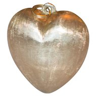 Fabulous Vintage 14k Large Puffy Heart Charm or Pendant