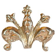 Vintage 14k Fleur-de-lis Watchpin or Brooch