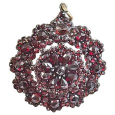 Victorian Bohemian Garnet Brooch or Pendant