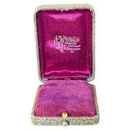 Vintage Presentation Box for Necklace or Pendant – J.W. Nichols, Waynesburg, PA