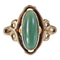 Lovely Vintage  12k Chrysoprase Ring