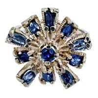 Smashing 70s 14k Sapphire Dinner Ring