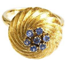 Beautiful Vintage 18k Cornflower Blue Sapphire Ring