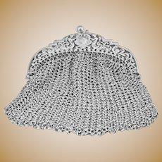 Victorian Silver Chatelaine Purse with Winged Angels