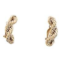 Wonderful Vintage 14k Rope Chain Earrings