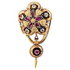 Beautiful  Gold Victorian or Georgian Amethyst Brooch