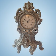 19thC clock for display with dolls
