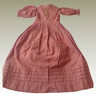 1860s Cotton dolls dress