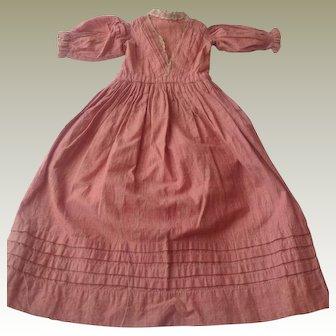 1860s Cotton dolls dress