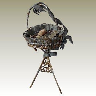 19thC German dolls house basket