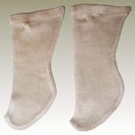 Pair Of Original 19thC Silk Doll Socks (6)