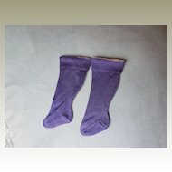 Pair Original 19thC Silk Doll Socks