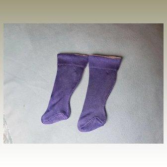 Pair Original 19thC Silk Doll Socks
