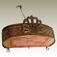 19thC brass canopy for fashion doll bed/day bed