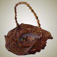 19thC French gilt basket for fashion doll