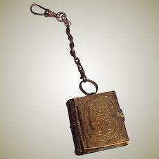 19thC miniature brass photo Album