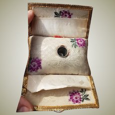 Lovely 18thC sewing roll (huswif)