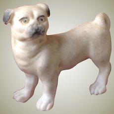 Darling little bisque pug dog for dolls house