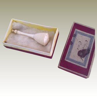 19thC miniature pomander for fashion doll