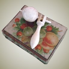 Rare 19thC miniature spinning/ humming top