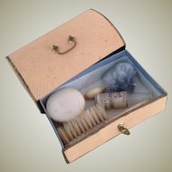19thC French box contains accessories for early fashions