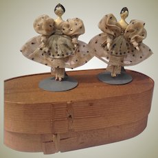 Gorgeous pair of all original 1830s grodnertals