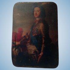 Early Miniature portrait on board for dollshouse