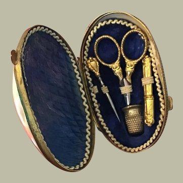 Fabulous 19thC miniature French Etui