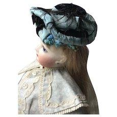 19thC Bonnet for Fashion Doll