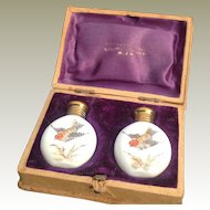Pair of Miniature Perfume Bottles in Original box