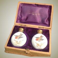 Pair of Miniature Perfume Bottles in Original box