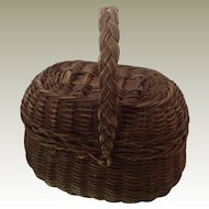 Original 19thC dolls wicker basket