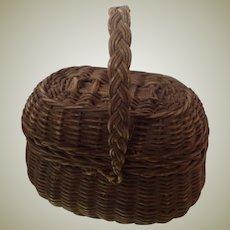 Original 19thC dolls wicker basket