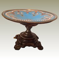 Fabulous 19thC French enamel and gilt metal Tazza for fashion dolls