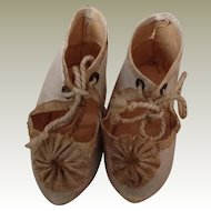 19thC dolls shoes