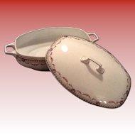 Beautiful Edelstein China Casserole/ Covered Dish