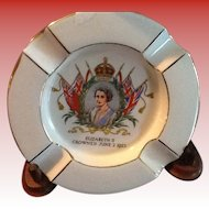 1953 Souvenir Ashtray Queen Elizabeth