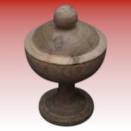 Handmade Wooden Stemmed Cup/Chalice with Lid