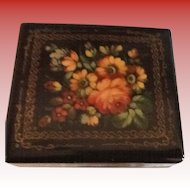 Russian Lacquerware floral Hinged Box