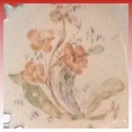 Atterbury Lattice Edge Milk Glass Bowl with Botanical Pattern