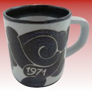 Royal Copenhagen 1971 Annual Mug