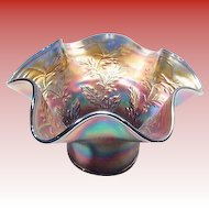 Amethyst Opalescent Carnival Glass Vase